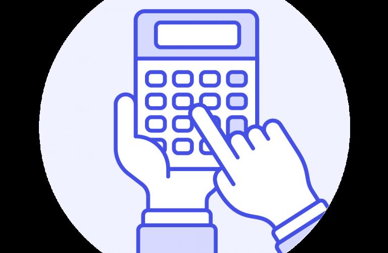 101- hand-working-calculator